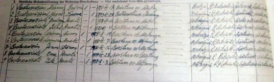 Bartusevicių seimos sudetis 1942 m