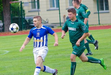 """""""Birštono SC"""" futbolininkai susitvarkė su varžovais antrajame kėlinyje"""