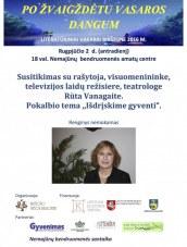 Susitikimas su Rūta Vanagaite Nemajūnų bendruomenės amatų centre