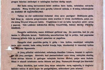 Kraštas tarpukario Lietuvos Seimų rinkimuose 1920-1940 m. Rinkimai į Steigiamąjį Seimą 1920 metais (I)