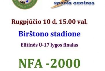 Birštone įvyks geriausių Lietuvos jaunųjų futbolininkų šventė