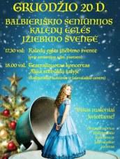 Kalėdinės eglutės įžiebimo šventė Balbieriškyje