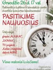 """Naujametinis koncertas Balbieriškio KLC su Agne, """"Aliukais"""" ir """"Donna"""""""