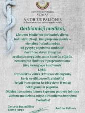 Seimo nario A. Palionio sveikinimas