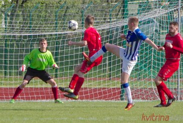 """""""Birštono SC"""" futbolininkai neatsilaikė prieš aktyviai žaidusią FK """"Simnas"""" komandą"""