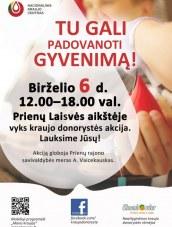 Kraujo donorystės akcija Prienuose