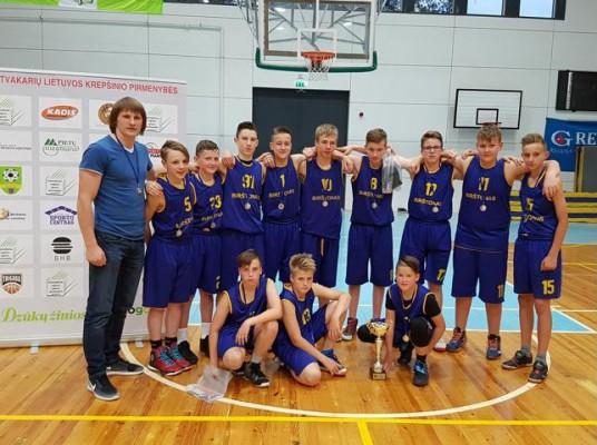 Birštono SC komanda (treneris Aurimas Luiza) Pietvakarių pirmenybių Mažosios taurės pirmenybių sidabro laimėtojai