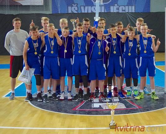 Prienų KKSC komanda (Treneris Marius Leonavičius) - Pietvakarių krepšinio pirmenybių nugalėtoja