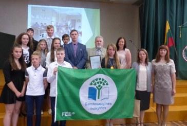 Balbieriškio pagrindinei mokyklai – trečia Žalioji vėliava