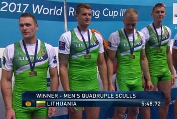 Rolandas Maščinskas ir Lietuvos porinė keturvietė – Pasaulio irklavimo taurės III etapo nugalėtojai