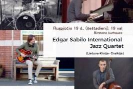 """Edgar Sabilo international Jazz Quartet"" Kurhauze"