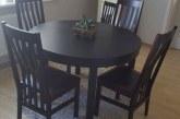Parduodamas naujas apvalus pasididinantis valgomojo stalas