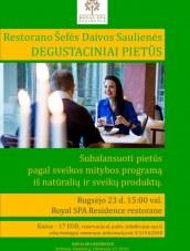 Degustaciniai pietūs su šefe Daiva Sauliene