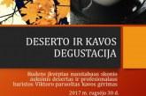 Deserto ir kavos degustacija