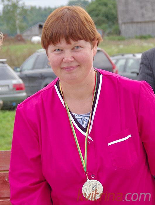Danguolė  Mikalauskienė - geriausia Prienų rajono melžėja