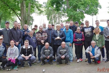 Tradicinio dvejetų petankės turnyro Birštono mero taurei laimėti nugalėtojai – Robertas Travkinas ir Evaldas Kievišas