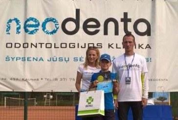 """Lukas Smailys – Neodenta vaikų teniso turnyro """"Rudens taurė"""" nugalėtojas"""
