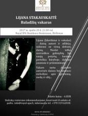 """Lijanos Stakauskaitės baladžių vakaras """"Royal SPA Residence"""""""