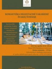 """Romantiška degustacinė vakarienė """"Royal SPA Residence"""""""