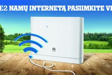 """""""Tele2"""" toliau mažina kainas: namų internetas – pusę metų nemokamai"""