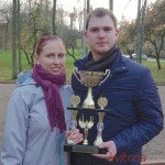 Irma Gedminaitė ir Paulius Bagdanavičius iš Pakumprio kaimo (Prienų rajonas) - Aleksandro Gorino vardo turnyro nugalėtojai.