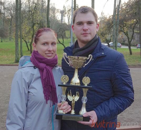 Irma Gedminaitė ir Paulius Bagdanavičius ir Pakumprio kaimo (Prienų rajonas) - Aleksandro Gorino vardo turnyro nugalėtojai.