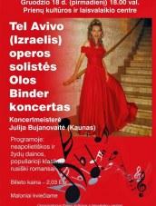 Operos solistės Olos Binder koncertas