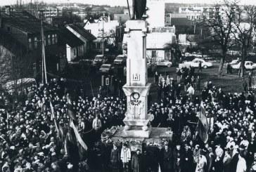 Lietuvos didžiojo kunigaikščio Kęstučio paminklui ir kariniam miesteliui Prienuose – 80 metų