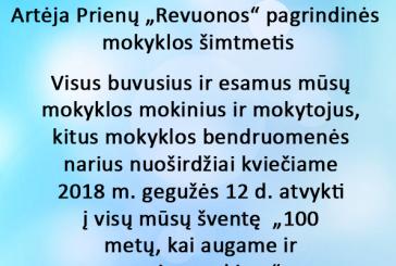 """Artėja Prienų """"Revuonos"""" pagrindinės mokyklos šimtmetis"""
