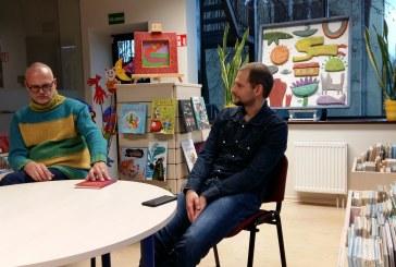 Spalvingas susitikimas su dailininku ir rašytoju Mariumi Jonučiu ir psichoterapeutu Timu Petraičiu