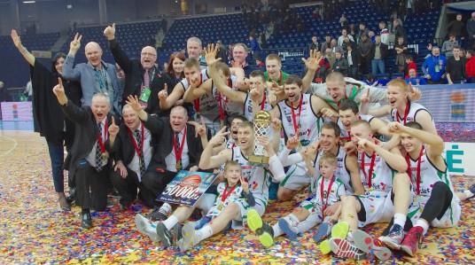 Svarbus prisiminimas . Prienų komanda LKF taurės laimėtoja.