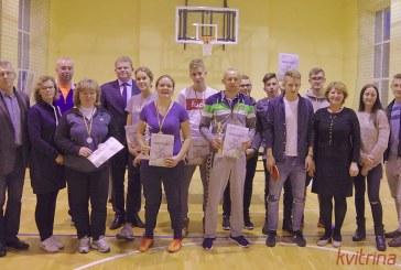 Saulė Valatkevičiūtė ir Ričardas Mazuronis – stalo teniso turnyro Seimo nariui Juozui Palioniui atminti laimėtojai
