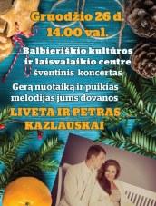 Šventinis Kalėdinis koncertas Balbieriškio KLC
