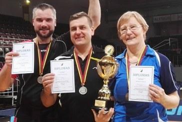 """Birštono stalo tenisininkai – antrosios vietos laimėtojai """"Žalgirio"""" draugijos žiemos sporto žaidynėse"""