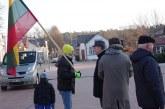 Sausio 13-oji.  Vėliavos pakilimas Birštone  (Foto reportažas)