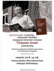 E. Malūko istorinio romano pristatymas Prienų bibliotekoje
