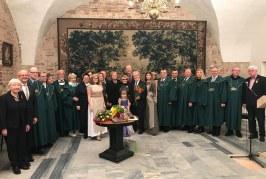 """Prienų garbės piliečiui Vytautui Bubniui įteiktas Santarvės ordinas """"Pro augenda concordia"""""""