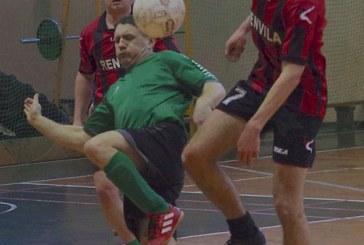 Prienų rajono salės futbolo pirmenybės. Pusfinalių foto akimirkos.