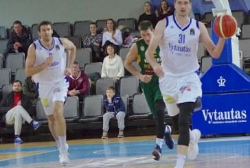 """Antroje rungtynių pusėje atsigavęs """"Vytautas"""" Klaipėdoje laimėti nesugebėjo"""