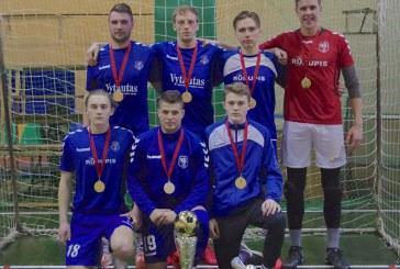 """Prienų rajono salės futbolo pirmenybių čempionai ‒ """"Rūdupio"""" futbolininkai"""