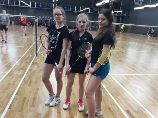 Balbieriškio pagrindinės mokyklos badmintonininkės