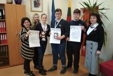 """""""Revuonos"""" pagrindinės mokyklos mokinė Gabija Kuzmickaitė – tarptautinio konkurso laimėtoja"""