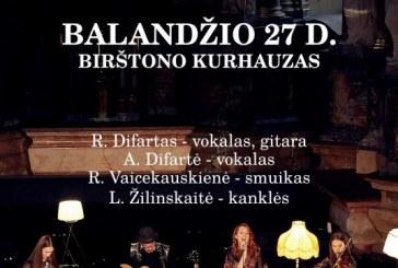 Populiariosios muzikos duetai Kurhauze