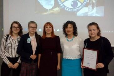 STEAM mokslų konkurse iškovotos pirmoji ir trečioji vietos