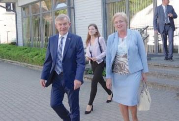 Birštone apsilankęs Seimo pirmininkas gyrė valstiečių frakciją ir Aurelijų Verygą