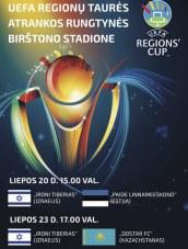 Tarptautinės futbolo rungtynės Birštono stadione