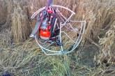 Bačkininkų kaime nukrito motorizuotas parasparnis. Žuvo pilotas