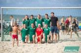 Prienų KKSC komanda prasimušė į Paplūdimio futbolo taurės finalinį ketvertą