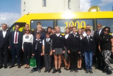 """1000-asis mokyklinis geltonasis autobusas ‒ """"Revuonos"""" pagrindinei mokyklai"""