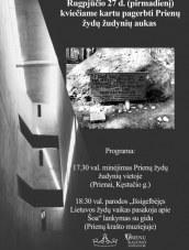 Žydų žudynių aukų pagerbimas Prienuose